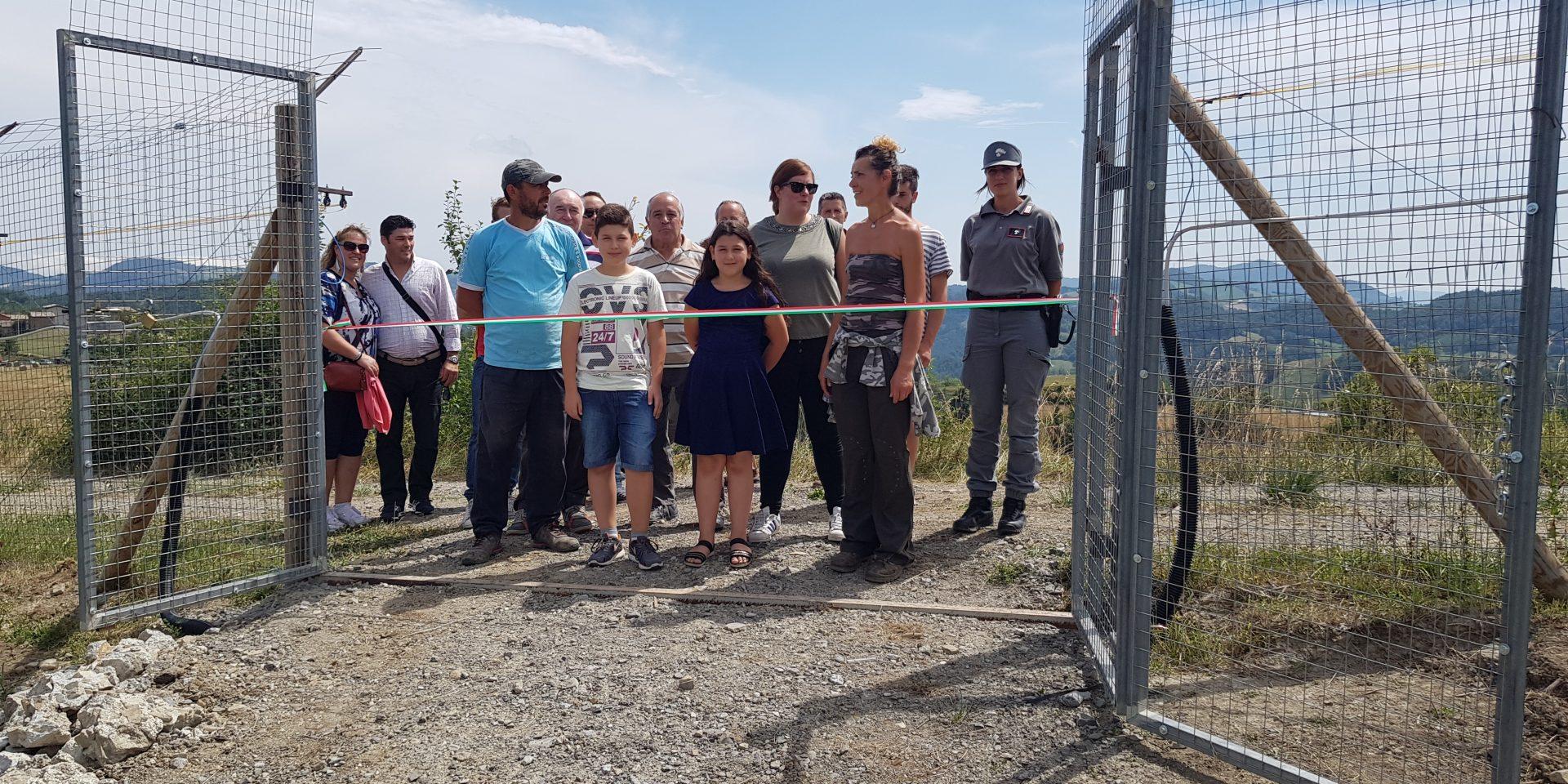 Inaugurazione nuovo recinto di pre ambientamento luglio 2018